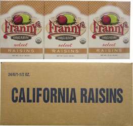 24/6-1.5oz Franny's Organic Select Thompson Seedless