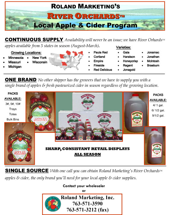 River Orchards Local Apple & Cider Program