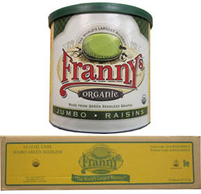 Franny's Jumbo Organic Thompson Seedless